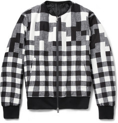 Neil Barrett Check-Print Bomber Jacket