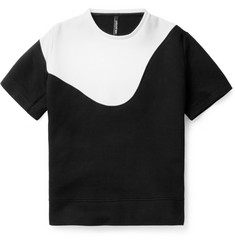 Neil Barrett Panelled Short-Sleeved Bonded Cotton-Blend Sweater