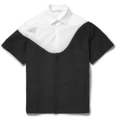 Neil Barrett Panelled Short-Sleeved Cotton Shirt