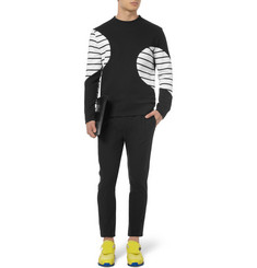 Neil Barrett Striped Cotton-Blend Jersey Sweatshirt