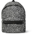 Saint Laurent - Leather-Trimmed Baby Cat-Patterned Backpack