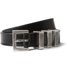 Saint Laurent Slim Leather Belt