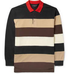 Givenchy Long-Sleeved Striped Polo Shirt