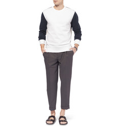 Wooyoungmi Panelled Loopback Cotton Sweatshirt