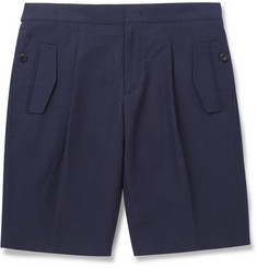 Wooyoungmi Pleated Cotton and Linen-Blend Shorts