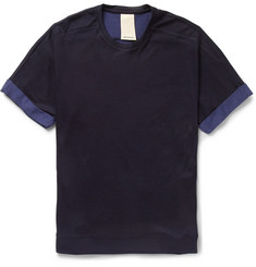 Wooyoungmi Bonded Cotton-Jersey and Pique T-Shirt
