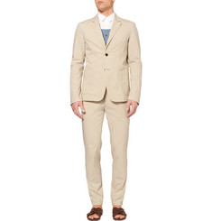 Wooyoungmi Tapered Cotton-Blend Poplin Suit Trousers
