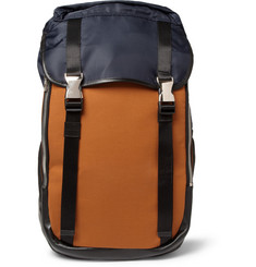 Wooyoungmi Panelled Leather-Trimmed Backpack