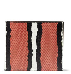 Givenchy Striped Water Snake Billfold Wallet