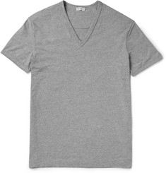 Dolce & Gabbana V-Neck Cotton-Blend Jersey T-Shirt