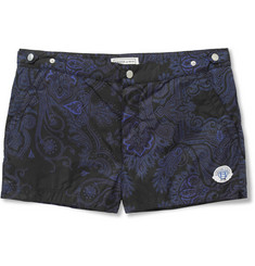 Robinson les Bains Oxford Paisley-Print Short-Length Swim Shorts