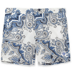 Robinson les Bains Oxford Mid-Length Printed Swim Shorts
