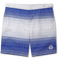 Robinson les Bains - Oxford Long-Length Printed Swim Shorts