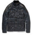 Belstaff - Darlington Coated-Twill and Leather Jacket
