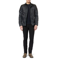 Belstaff Darlington Coated-Twill and Leather Jacket