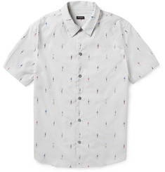 PS by Paul Smith Printed Short-Sleeved Cotton Shirt