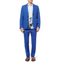 PS by Paul Smith Slim-Fit Printed Cotton-Poplin Shirt