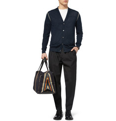 PS by Paul Smith Contrast-Trim Linen Cardigan
