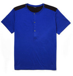 PS by Paul Smith Contrast-Back Cotton-Jersey Henley T-Shirt