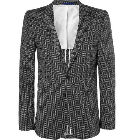 PS by Paul Smith Slim-Fit Printed Cotton-Blend Suit Jacket