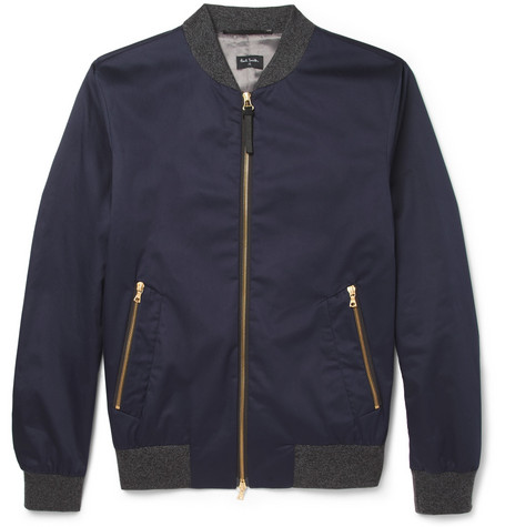 PS by Paul Smith Cotton-Blend Bomber Jacket