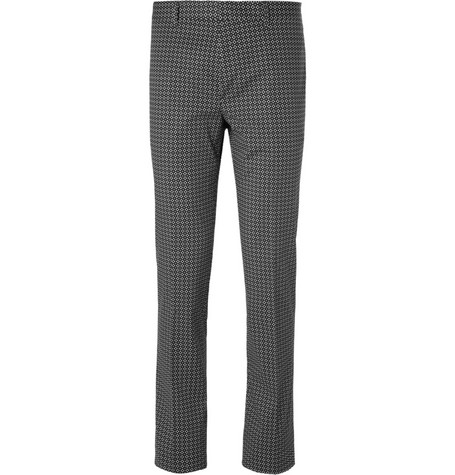 PS by Paul Smith Slim-Fit Panelled Cotton-Blend Suit Trousers