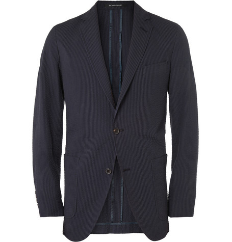 Richard James Cotton Seersucker Jacket