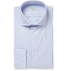 Richard James Blue Striped Cotton-Poplin Shirt
