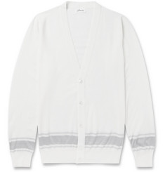 Brioni Lightweight Wool and Silk-Blend Cardigan