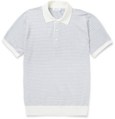 Brioni Knitted Wool and Silk-Blend Polo Shirt