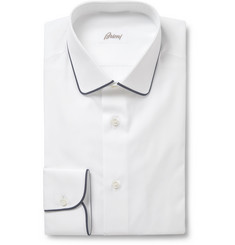 Brioni White Slim-Fit Cotton Shirt