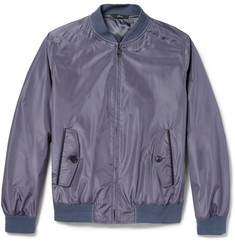Brioni Water-Repellent Silk Bomber Jacket