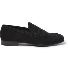 Brioni Fringed Suede Loafers