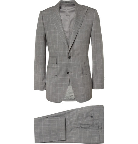 Thom Sweeney Grey Albemarle Three-Piece Wool Suit