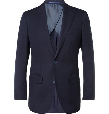 Thom Sweeney Curzon Slim-Fit Basket-Weave Wool Blazer