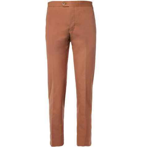 Thom Sweeney Brook Slim-Fit Cotton-Twill Trousers
