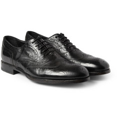 Paul Smith Shoes & Accessories Torrance Washed-Leather Oxford Brogues
