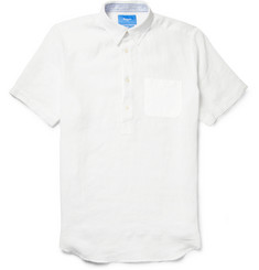 Faconnable Short-Sleeved Linen Shirt