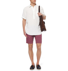 Faconnable Matelot Slim-Fit Cotton and Linen-Blend Shorts
