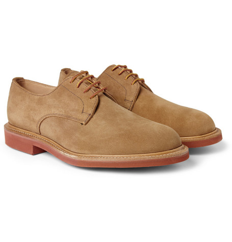 Mark McNairy Contrast-Sole Suede Derby Shoes