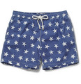 Hartford - Mid-Length Star-Print Swim Shorts