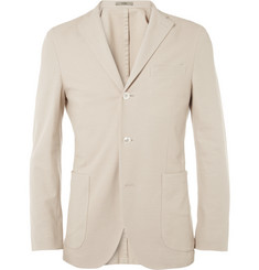 Boglioli Slim-Fit Unstructured Cotton-Pique Blazer