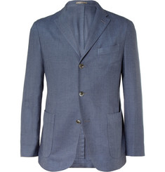 Boglioli Unstructured Herringbone Cashmere and Cotton-Blend Blazer