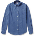 Richard James Slim-Fit Button-Down Collar Cotton Shirt