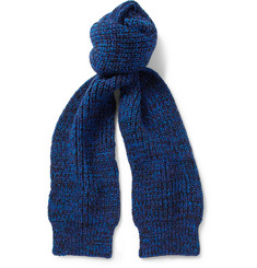 Richard James Wool and Cotton-Blend Scarf