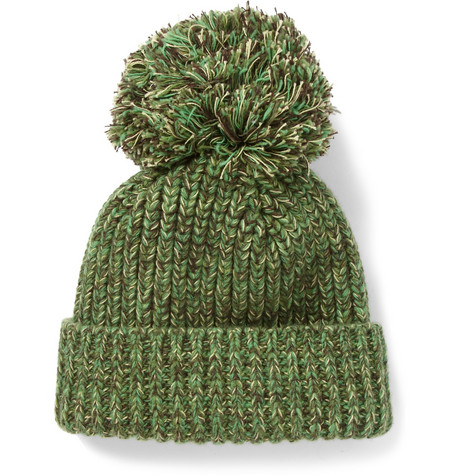 Richard James Wool and Cotton-Blend Beanie Bobble Hat