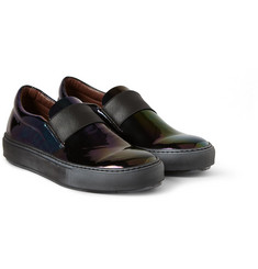 Acne Studios Hans Oil Iridescent Leather Slip-On Sneakers