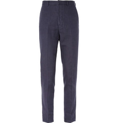 AMI Slim-Fit Cotton and Linen-Blend Suit Trousers