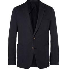 AMI Unstructured Regular-Fit Cotton and Linen-Blend Suit Jacket