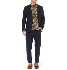 AMI Unstructured Cotton and Linen-Blend Suit Jacket